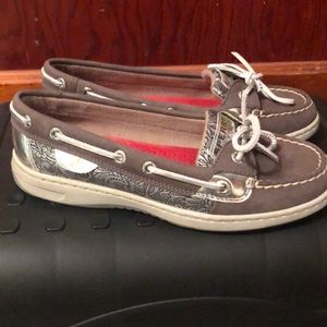 W 5.5 Sperry Angelfish Topsider Graphite/Silver